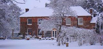 Old Whyly bed and breakfast in winter
